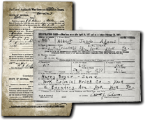 Civil War Pension Application and WWII Draft Card