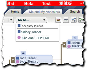 Family Tree view now includes Go To self