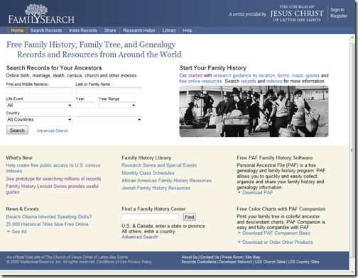 A new look for the old FamilySearch.org