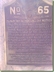 Plaque on reverse side of C R Savage Monument