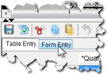 A new Header tab will join the other tabs in the data entry