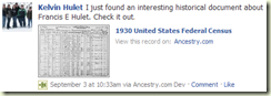Ancestry working on Facebook interface