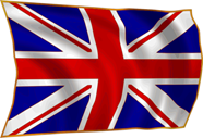 UK flag, on white