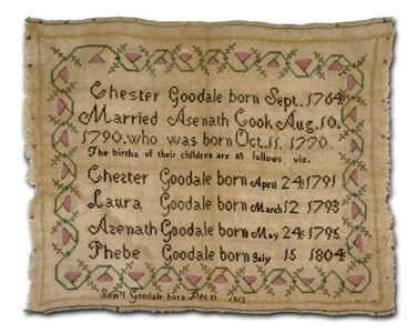 Sampler from the Chester Goodale pension file