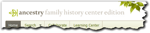 Logo at the top of the Ancestry Family History Center Edition