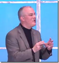 Curt Witcher delivered the Thursday keynote at the RootsTech conference