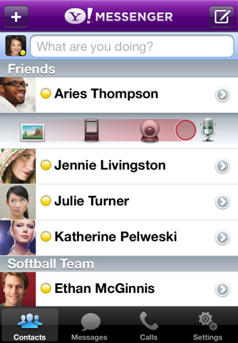 Download Application, Video Call from iPhone 4 with Yahoo Messenger 2