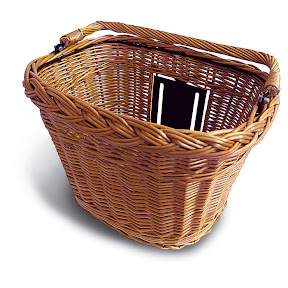 Basil Natural Wicker - $130 - Made in Holland, Quick Release with steel inner structure for strength