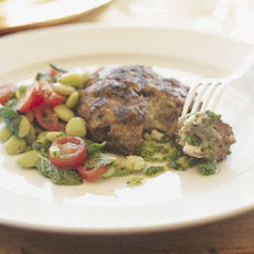 Lamb Burgers with Blue Cheese