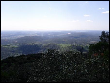 Vue depuis le Pic Saint Loup Vers Montpellier