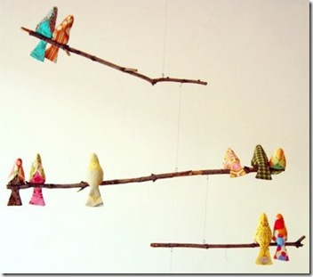 diy bird mobile - design sponge