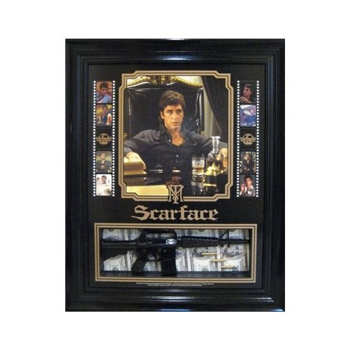 scarface movie al pacino framed poster machine gun 704 ebay
