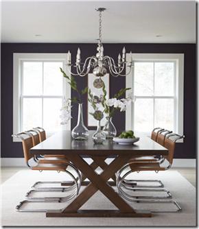 Casa de Valentin - decor de Michael Pertenio - azul escuro e couro, super elegante