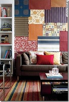 Mosaico de tecidos via Casa e Jardim