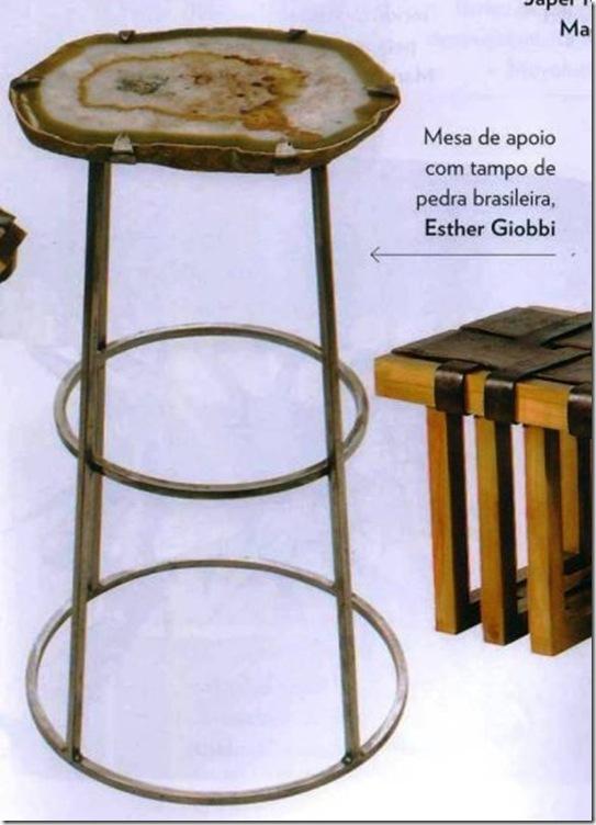 Comprar móveis -Valdomiro Favoreto - mesinha pedra