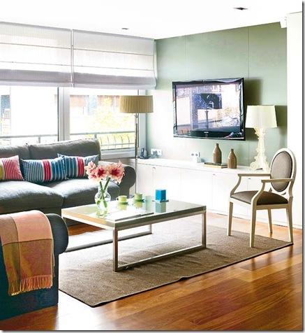 Sala com TV. Foto Mi Casa