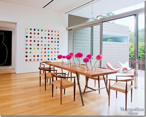 Metropolitam Home - vasinhhos de vidro com flores coloridas