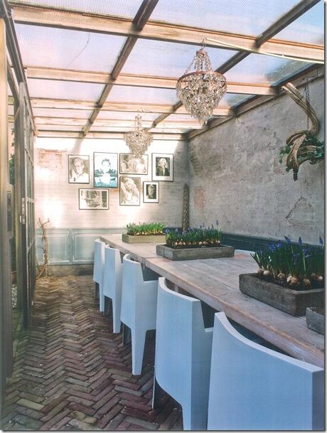 Sala de jantar no jardim via Stilvoll Wohnen