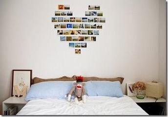 Casa de Valentina - coração de fotos