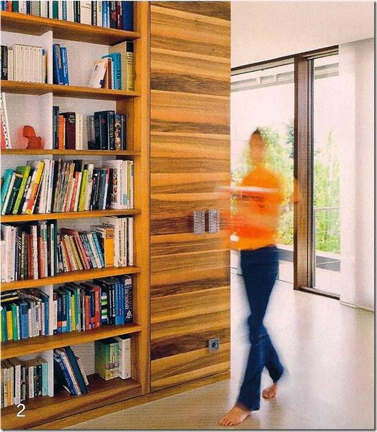 Casa de Valentina - Arquitectura Y Diseño - estante embutida na parede de madeira