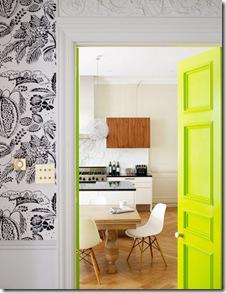 Casa de valentina - via Plastolux - porta verde limão