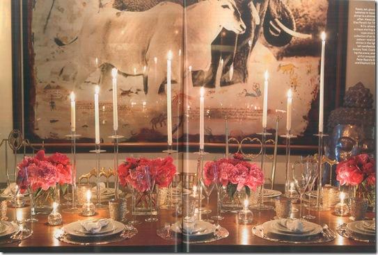 Casa de Valentina - via Towns & Country - para um jantar pink