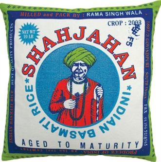 Koko Company  Pillow with Shajahan Print