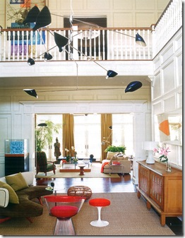 Casa de Valentina - uma casa vintage - sala de estar colorida