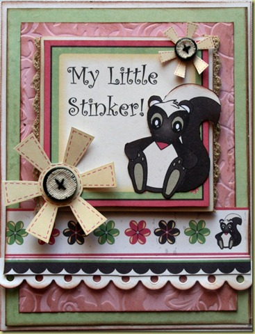 Karen Taylor Spring Card My Little Stinker