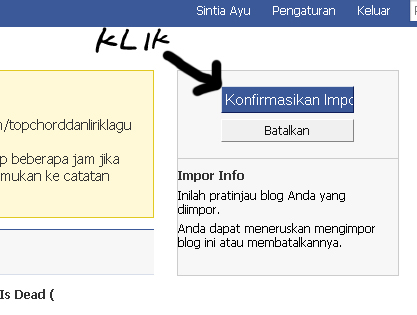 Update Chordpoprock di Facebook lewat feed / cacatan