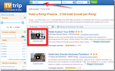 trovare camera hotel parigi