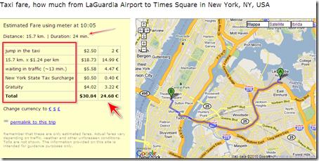 prezzo corsa taxi new york