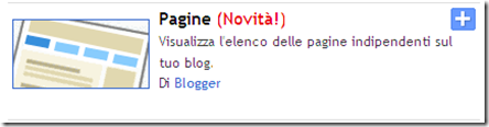 gadget menu pagine blogger
