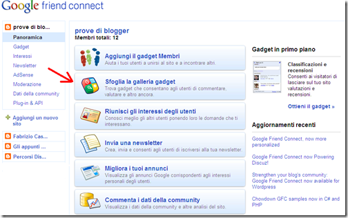 personalizzare google friend connect