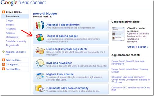 personalizzare google friend connect