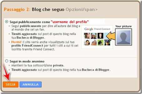 seguire blog bacheca blogger