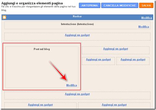 come inserire elementi condivisione post blogger
