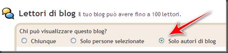 come rendere visibile blogger solo autori blog