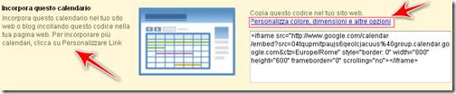 come inserire gadget calendario eventi blog blogger