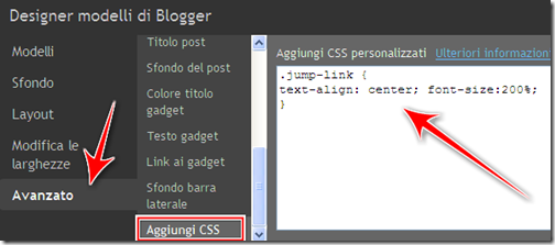 come centrare ingrandire continua ulteriori informazioni post blog blogger