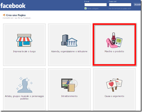 come fare creare pagina fan ufficiale facebook blog blogger
