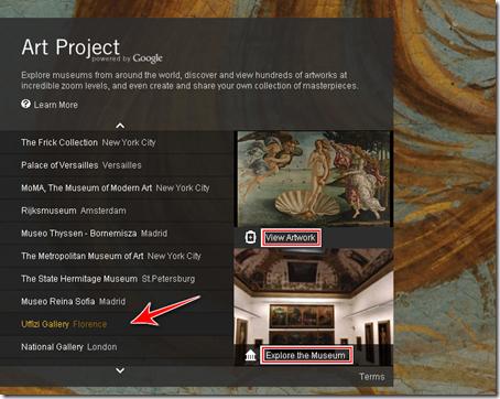 come visitare galleria uffizi firenze online google