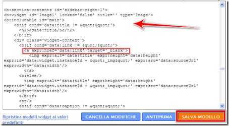 come aprire gadget foto immagine blog blogger altra nuova finestra browser