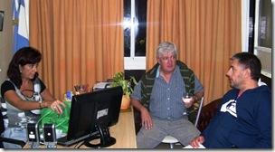El presidente del Concejo Deliberante de La Costa, Ing. Ricardo Daubagna, junto a la directora del Hospital de Mar de Ajó, Lic. Marina Moretti