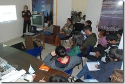 Charla sobre los atractivos turísticos e historias de diversas localidades del distrito, a cargo del personal de la Secretaría de Turismo de la Comuna.