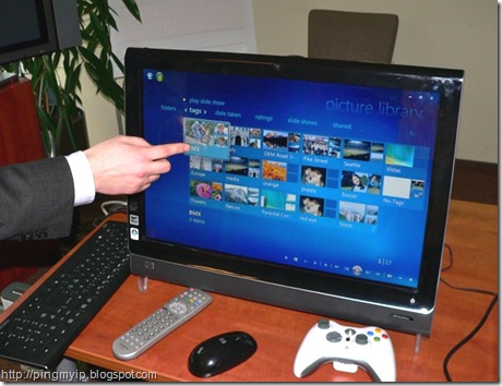 Windows 7 valdymas prisilietimu
