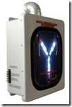 Un «condensador de fluzo», conocido por su aparición en la trilogía de «Regreso al Futuro»