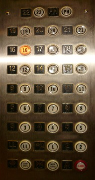 Elevator and 13th Floor - Sheva Apelbaum