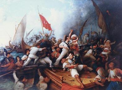 Decatur Boarding a Tripolitan Gunboat-Sheva Apelbuam