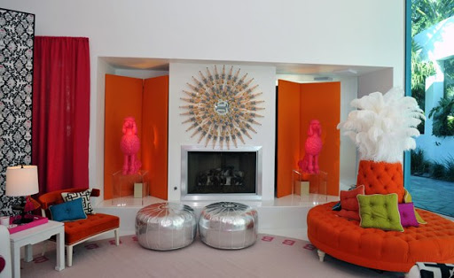 Glamour drawing room